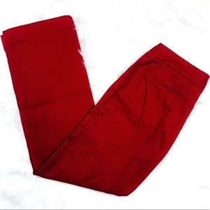 Nine & Co. Red Textured Bootcut Pants - Size 6